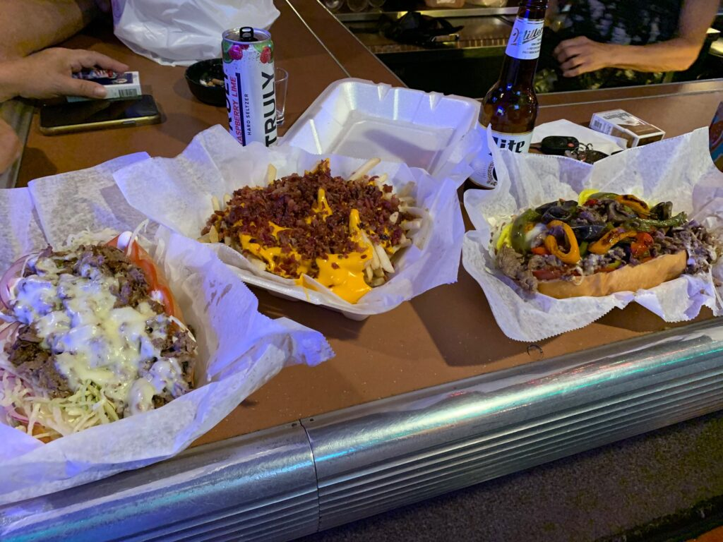 Cheese Steaks and Bacon Cheddar fries served by Good To Go